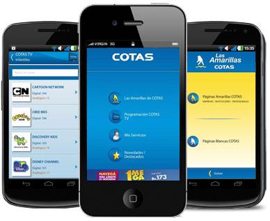 7f3c0c08fac ... Cruz habilitó una aplicación denominada APP COTAS que permite  descargar, a cualquier teléfono inteligente o Smartphone, la guía telefónica  de COTAS, ...